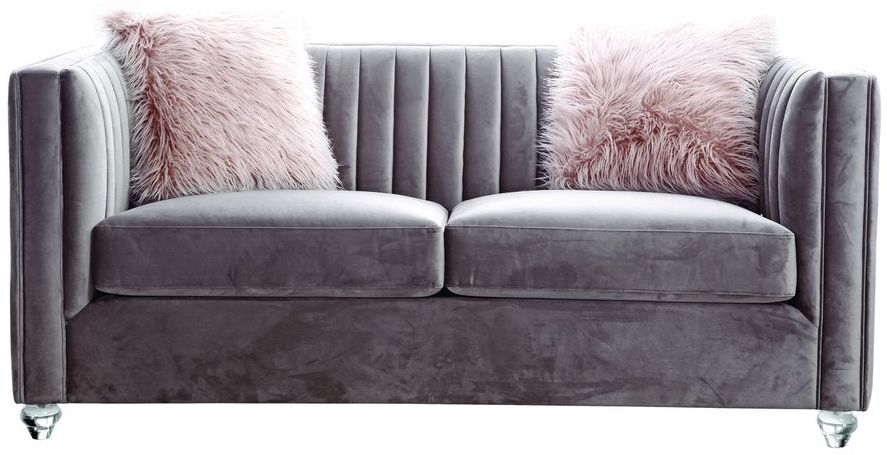 Crawford Pink 2 Seater Fabric Sofa