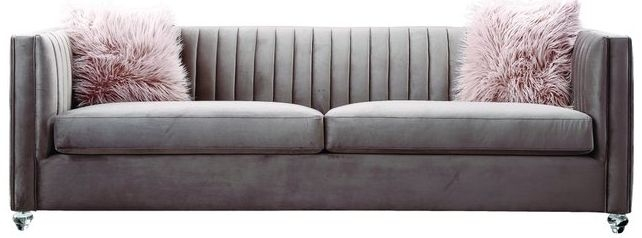 Crawford Pink Fabric 3 Seater Sofa