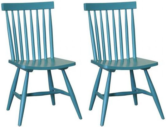 Danish Retro Dining Chair with Vertical Slats (Pair)
