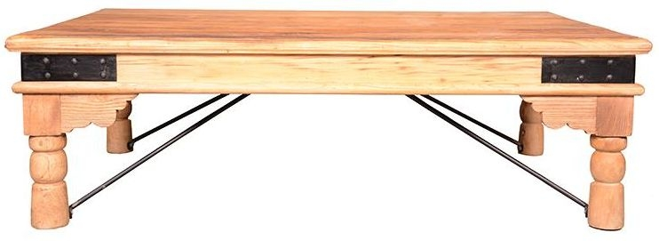 Doors Reclaimed Wooden Coffee Table With Turned Legs