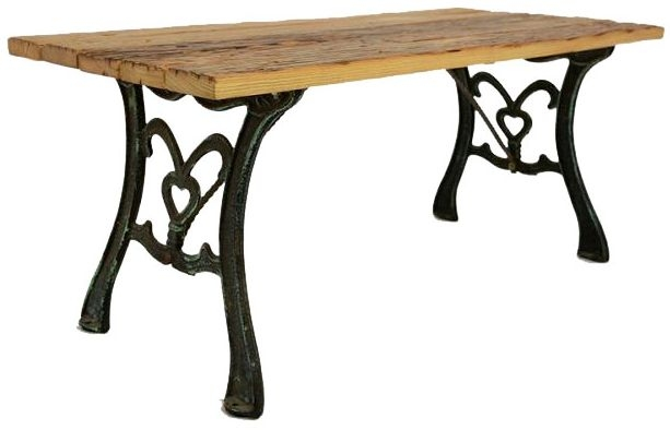 Doors Reclaimed Wooden Console Table with Decorative Metal Legs