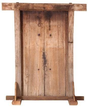 Doors Reclaimed Wooden Door with Frame