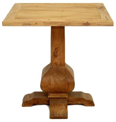Doors Reclaimed Wooden Square Single Pedestal Table