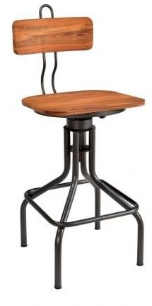 Durban Bar Chair - Iron and Wood