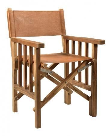 Durban Brown Leather Wooden Chair - MV 028
