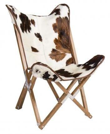 Durban Cow Print Butterly Fabric Chair
