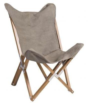 Durban Green Canvas Butterfly Fabric Chair