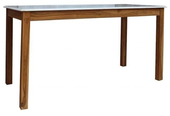 Durban Dining Table - Wood and Marble
