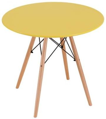 Eames Inspired Eiffel Table - Yellow