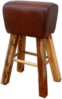 Leather Pommel Horse Style Stool