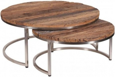 Round Nest of 2 Coffee Tables