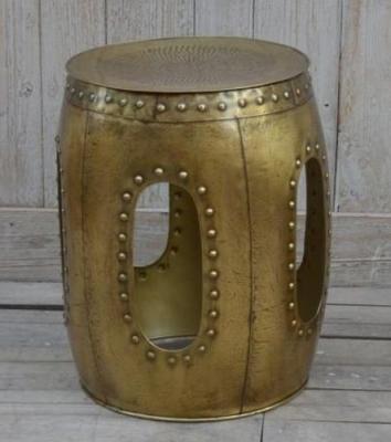 Large Decorative Metal Stool