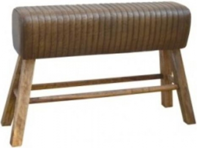 Brushed Buffalo Leather Pommel Horse Bench