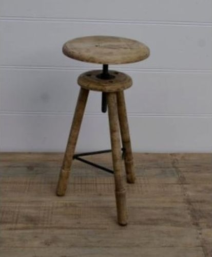 Adjustable Wooden Tripod Stool