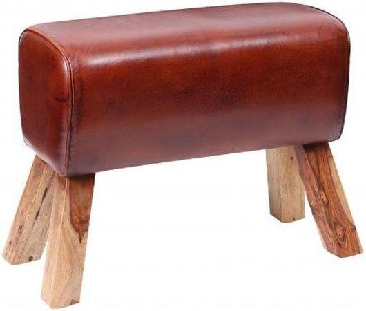 Leather Pommel Horse Large Stool