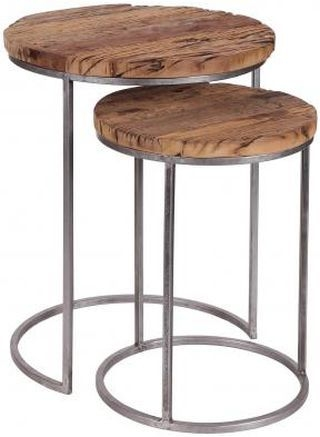 Nest of 2 Round Side Tables