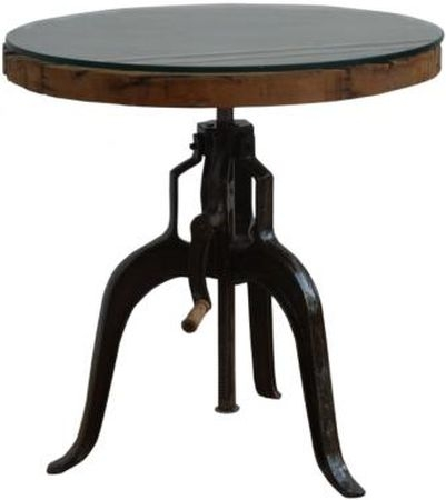 Adjustable Round Side Table