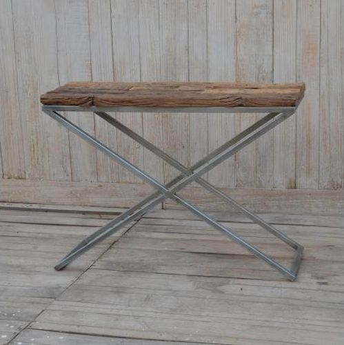 Cross Leg Side Table
