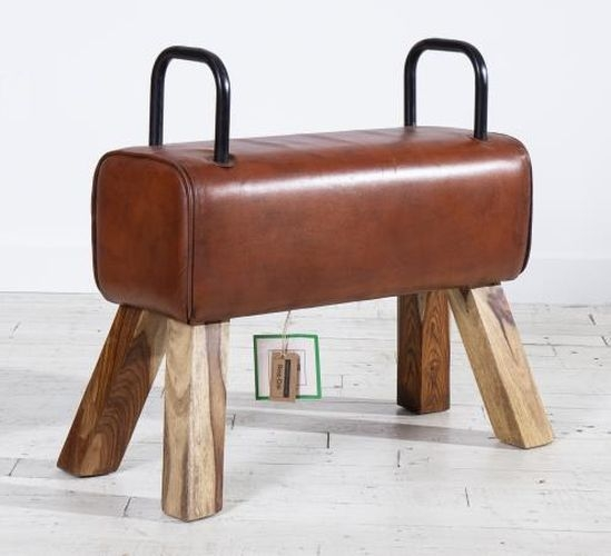 Leather Pommel Horse Bench with Handle