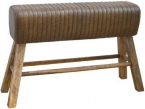Brushed Buffalo Leather Pommel Horse Bench
