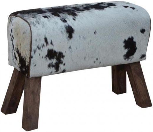Cowhide Leather Pommel Horse Stool