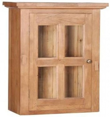 Evelyn Oak 1 Glass Door Cabinet
