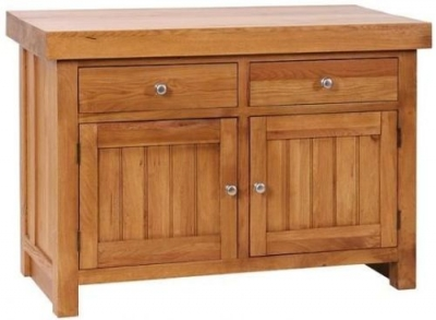 Evelyn Oak 2 Door 2 Drawer Butcher Block