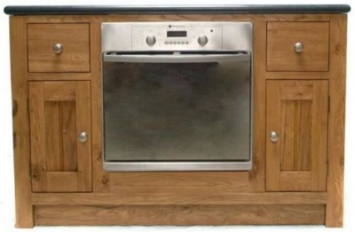 Evelyn Oak 2 Door 2 Drawer Oven Unit