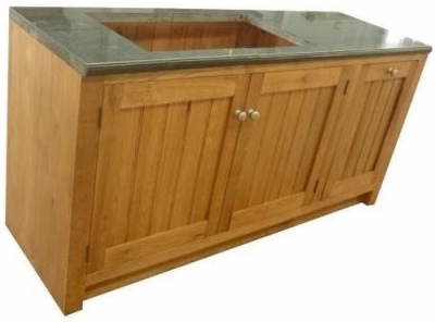 Evelyn Oak 3 Door Granite Sink Unit