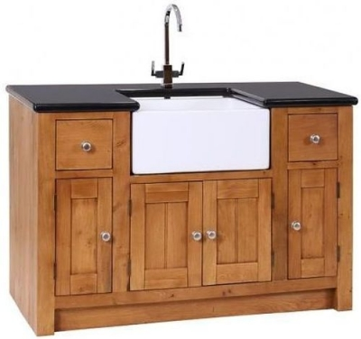 Evelyn Oak 4 Door 2 Drawer Granite Sink Unit