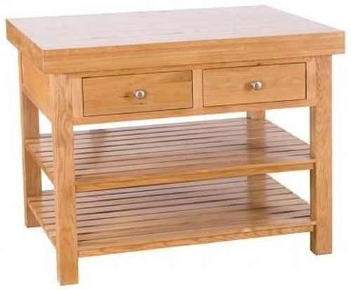 Evelyn Oak 2 Drawer Large Rectangular Island