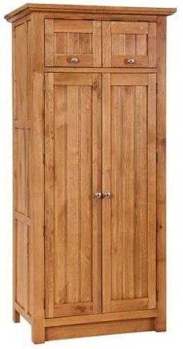 Evelyn Oak 4 Door Larder with Wine Rack