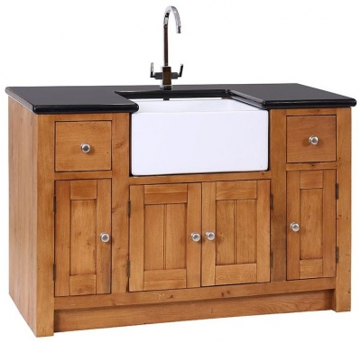 Evelyn Oak Granite Sink Unit with 4 Door 2 Drawer