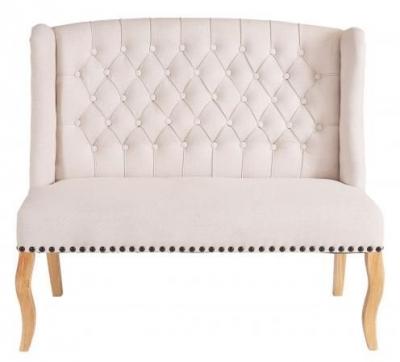 Beige 2 Seater Fabric Sofa (Pair)