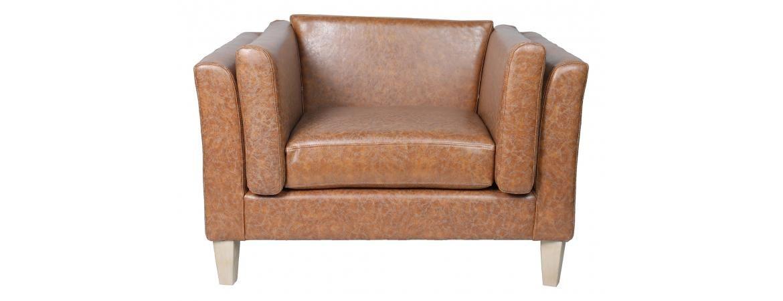 Brown Fabric Armchair