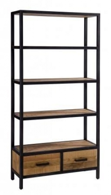 Forge Industrial 2 Drawer Bookcase