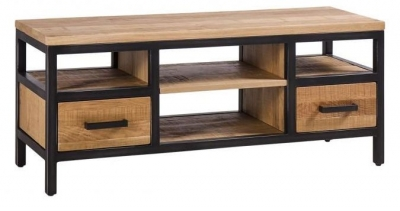 Forge Industrial 2 Drawer Small TV Unit