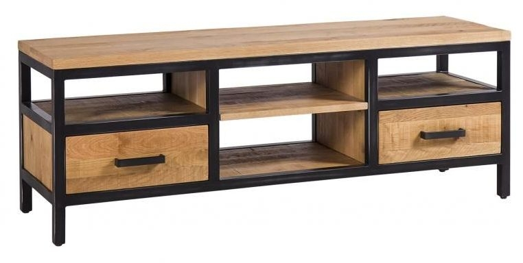 Forge Industrial 2 Drawer Large TV Unit