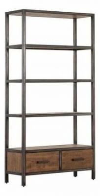 Forge Old Oak Industrial 2 Drawer Bookcase