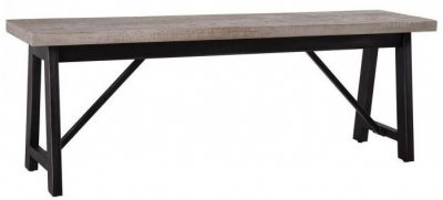 Forge Weathered Oak Industrial Bench