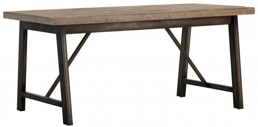 Forge Weathered Oak Industrial Dining Table