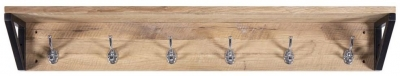 Forge Whitewashed Oak Industrial Coat Rack