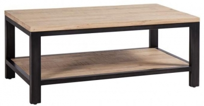 Forge Whitewashed Oak Industrial Coffee Table
