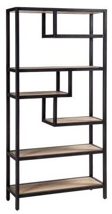 Forge Whitewashed Oak Industrial Shelf Rack