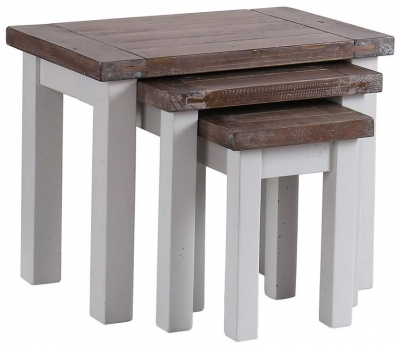 Hamptons Painted Nest of 3 Tables