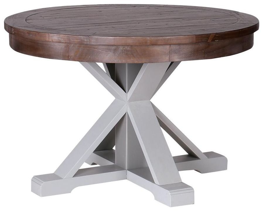 Hamptons Painted Circular Pedestal Base Dining Table - 120cm