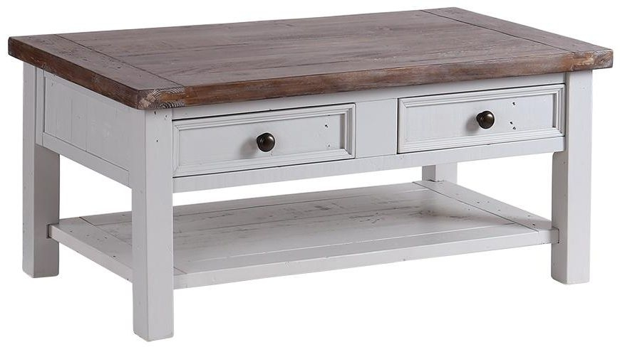 Hamptons Painted Coffee Table - 2 Drawer