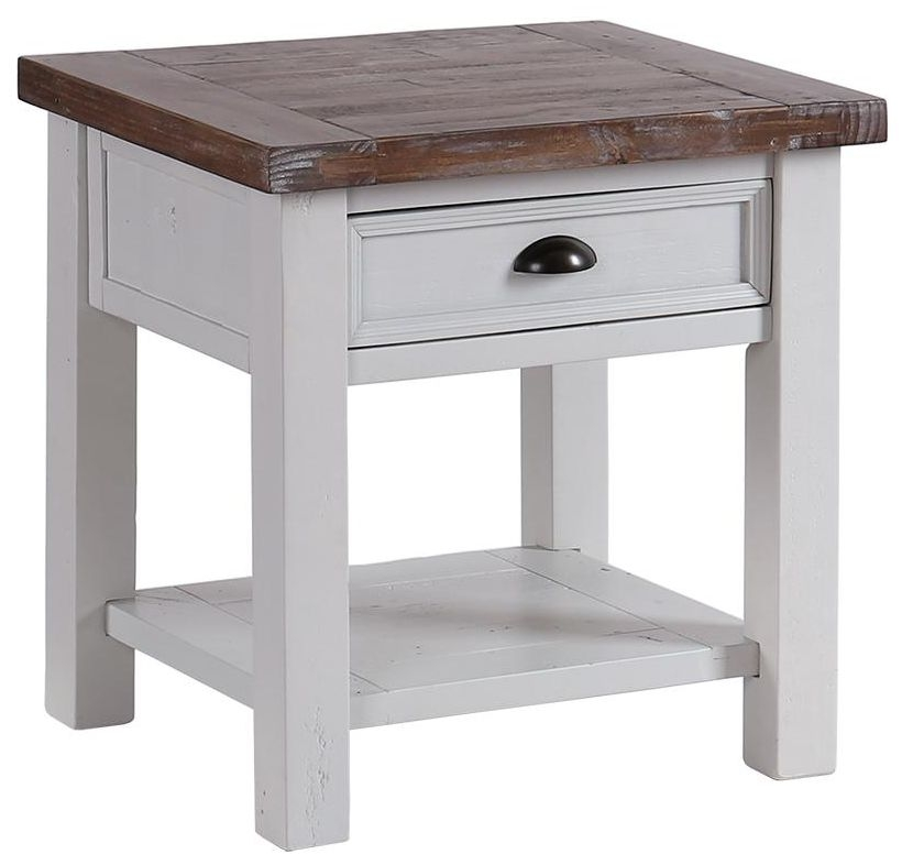 Hamptons Painted 1 Drawer Lamp Table