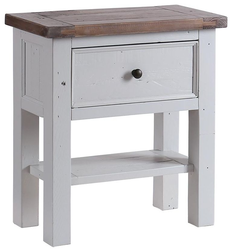 Buy hamptons painted small console table 1 drawer 1 for Small console table with shelf