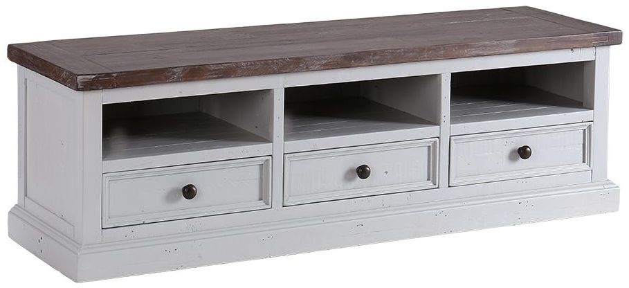 Hamptons Painted 3 Drawer TV Unit